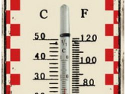 Balance 595387 Thermometer Rustic