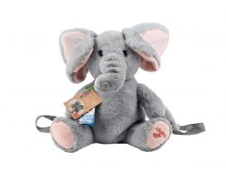 Flappers Eco Pluche Rugtas Olifant Flap 25x18x30 cm