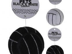 Pets Black and White Collection Honden Speelgoed-Bal 7.5 cm Assorti