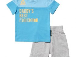 Sports Outfit for Baby Reebok G ES Inf SJ SS Blauw Grijs