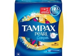 Normale Tampons Pearl Compak Tampax (16 uds)