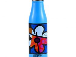 Thermos Britto Bloem Blauw Roestvrij staal (500 ml)
