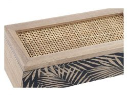 Box for Infusions DKD Home Decor Rooster Rotan Hout MDF (24 x 10 x 7 cm)