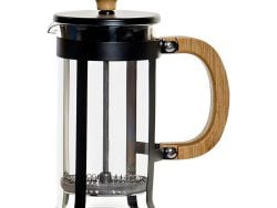Koffiepot met Zuiger DKD Home Decor Bamboe Roestvrij staal (13 x 7 x 17 cm)