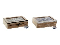 Box for Infusions DKD Home Decor Kristal Hout MDF (2 pcs) (23 x 15.5 x 6.5 cm)