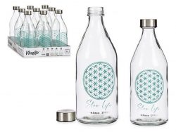 Fles Slow Life Glas Staal 1000 ml