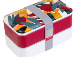 Set Lunchboxen Two Abstract Rood Polypropyleen (1200 ml)