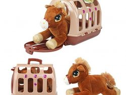 Toi-Toys Pluchen Paard in Draagkoffer