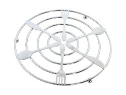 Placemat DKD Home Decor Zilver Metaal (20 x 20 x 1 cm)